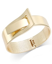 Bar Iii Gold Tone Belt Buckle Bangle Bracelet
