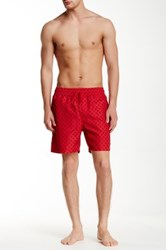 Jack Spade Mini Tree Grannis Swim Trunk Red