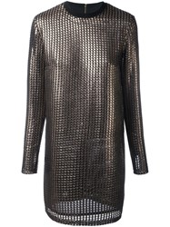 House Of Holland 'Chainmail' Dress Metallic