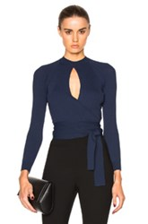 Lover Unity Wrap Top In Blue