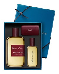 Santal Carmin Cologne Absolue 200 Ml With Personalized Travel Spray 30 Ml Pink Atelier Cologne Magenta