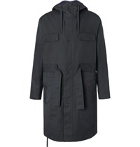 Craig Green Belted Canvas Hooded Parka Navy