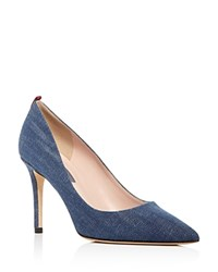 Sarah Jessica Parker Sjp By Fawn Pointed Toe Pumps Denim