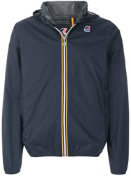 K Way Le Vrai Leon 3.0 Rain Jacket Blue