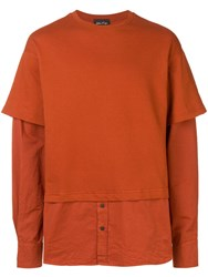 Andrea Ya'aqov Crew Neck Jumper Shirt Orange