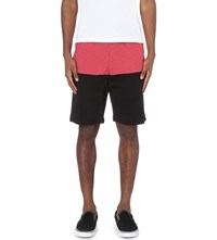 Crooks And Castles Bombay Panelled Jersey Shorts Black