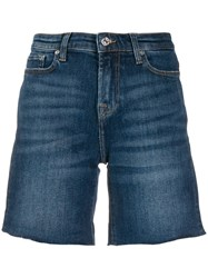 7 For All Mankind Denim Shorts Blue
