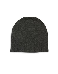 Black Brown Cashmere Beanie Charcoal