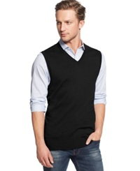 Club Room Cotton Vest Only At Macy's Deep Black