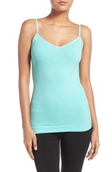Nordstrom Women's Lingerie Two Way Seamless Camisole Teal Ripple Heather