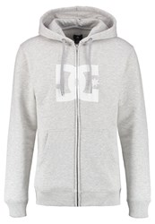 Dc Shoes Star Tracksuit Top Grey Heather White Mottled Grey