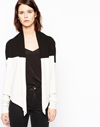 Mbym Colourblock Long Sleeve Cardigan 842Blacksport