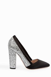 Giambattista Valli Women S Glitter Block Heel Pumps Boutique1 Black