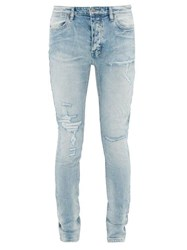 Ksubi Van Winkle Distressed Skinny Fit Jeans Light Blue