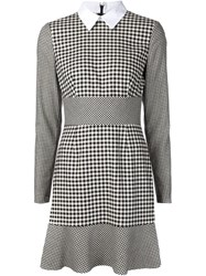 Red Valentino Gingham Check Mini Dress Black