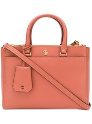 Tory Burch Robinson Small Double Zip Tote Pink