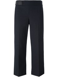 Brunello Cucinelli Pleated Cropped Trousers Black