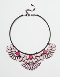 Lipsy 3 Part Stone Torque Necklace Pink