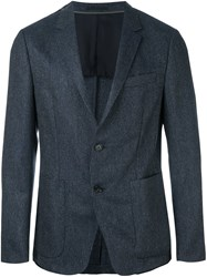 Z Zegna Single Breasted Blazer Blue