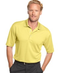 Pga Tour Men's Big And Tall Airflux Solid Golf Polo Pale Banana
