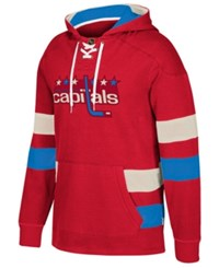 Ccm Men's Washington Capitals Pullover Jersey Hoodie Red