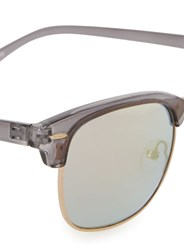 Jeepers Peepers Clear Grey Half Frame Sunglasses