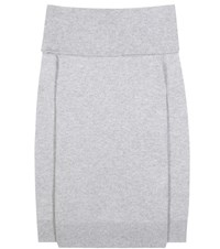 Alexander Wang Wool And Cashmere Off The Shoulder Sweater Grey