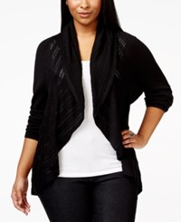 Alfani Plus Size Open Front Crochet Knit Cardigan Only At Macy's