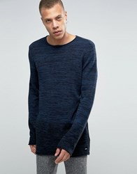 Dr. Denim Dr Nick Knitted Jumper Blue Blend Grey