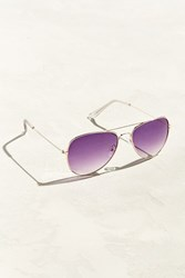 Urban Outfitters Gradient Lens Aviator Sunglasses Purple Multi