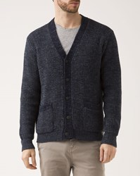 Denim And Supply Ralph Lauren Indigo Blue Contrast Cotton Cardigan