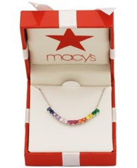 Giani Bernini Multicolor Cubic Zirconia Collar Necklace In Sterling Silver Only At Macy's