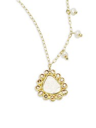 Meira T Rough Diamond And 14K Yellow Gold Pendant Necklace