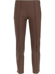 Egrey Slim Cropped Trousers Brown