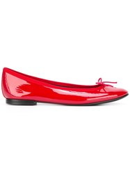 Repetto 'Flamme' Ballerinas Patent Leather Pvc Leather Polyester Red