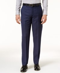 Ryan Seacrest Distinction Men's Slim Fit Navy Birdseye Pants Created For Macy's