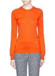 Victoria Beckham Double Faced Knit Sweater Orange