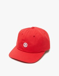 Stussy Contrast Strap Cap In Red