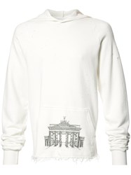 Enfants Riches Deprimes Frayed Hem Hoodie White