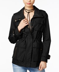 Madden Girl Hooded Anorak Black