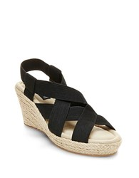 Steve Madden Janenn Espadrille Wedge Sandals Black