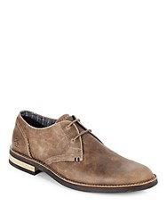Penguin Textured Lace Up Oxfords Shitake Taupe