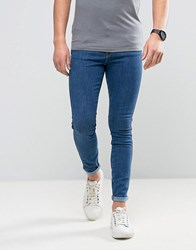 Dr. Denim Dr Dixy Extreme Super Skinny Jeans In Organic Cotton Mid Retro Blue