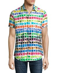 Robert Graham Rainbow Basin Short Sleeve Sport Shirt Multi
