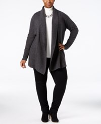 Charter Club Plus Size Cashmere Shawl Collar Cardigan Only At Macy's Heather Cinder