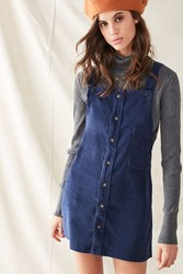 Urban Renewal Recycled Corduroy Pinafore Dress Navy