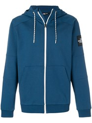 The North Face Zipped Hoodie Blue