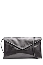 Maison Martin Margiela Maison Margiela Metallic Leather Shoulder Bag Black