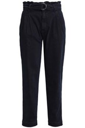 Claudie Pierlot Belted Mid Rise Tapered Jeans Midnight Blue