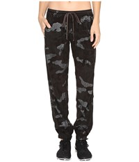 Hard Tail Bemberg Racer Pants Camo Granite Women's Workout Black